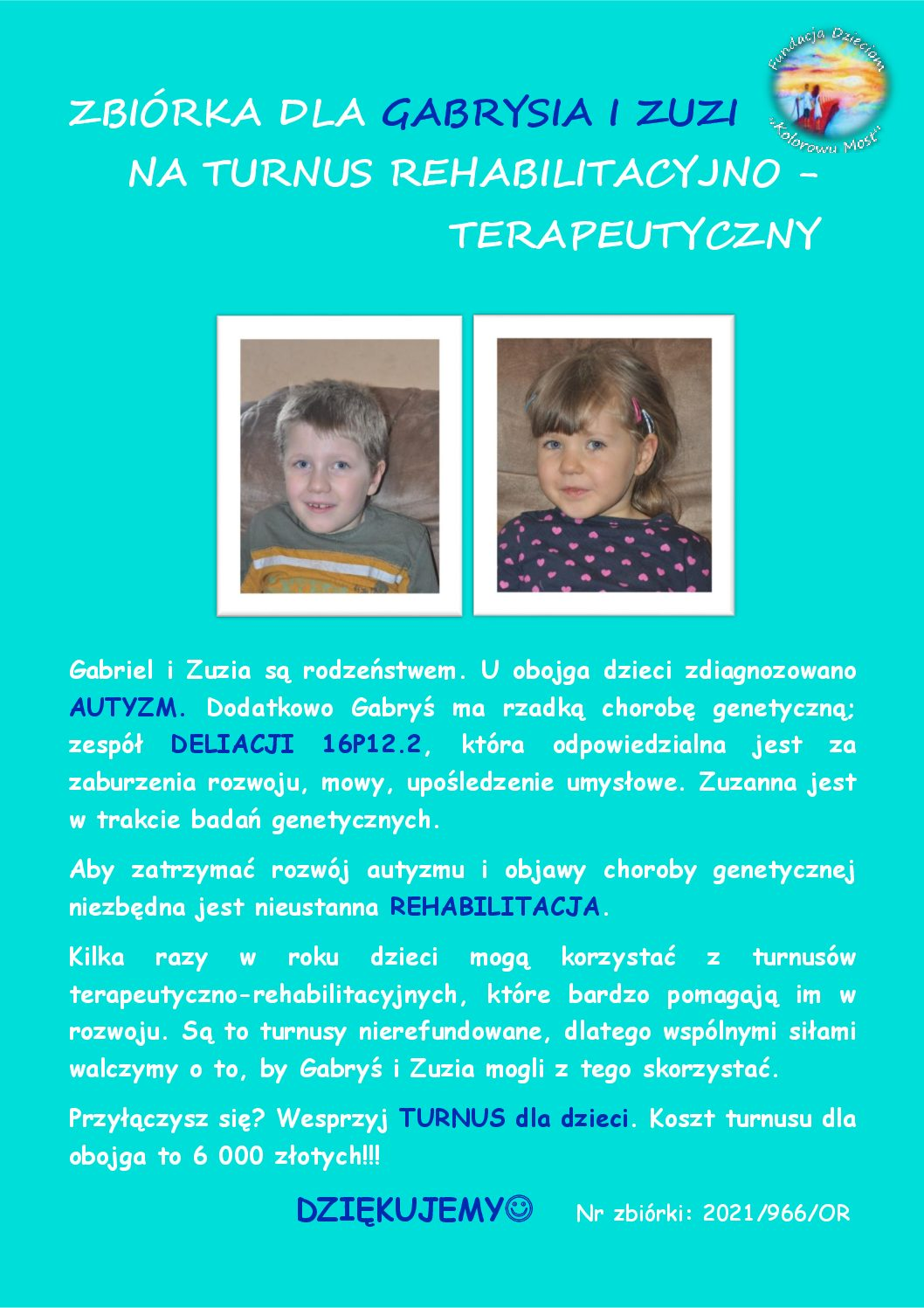 """Zbiórka dla Gabrysia i Zuzi"". post thumbnail"